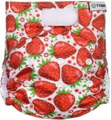 T-tomi pieluszka wielorazowa AIO - zapinana na rzep, strawberries