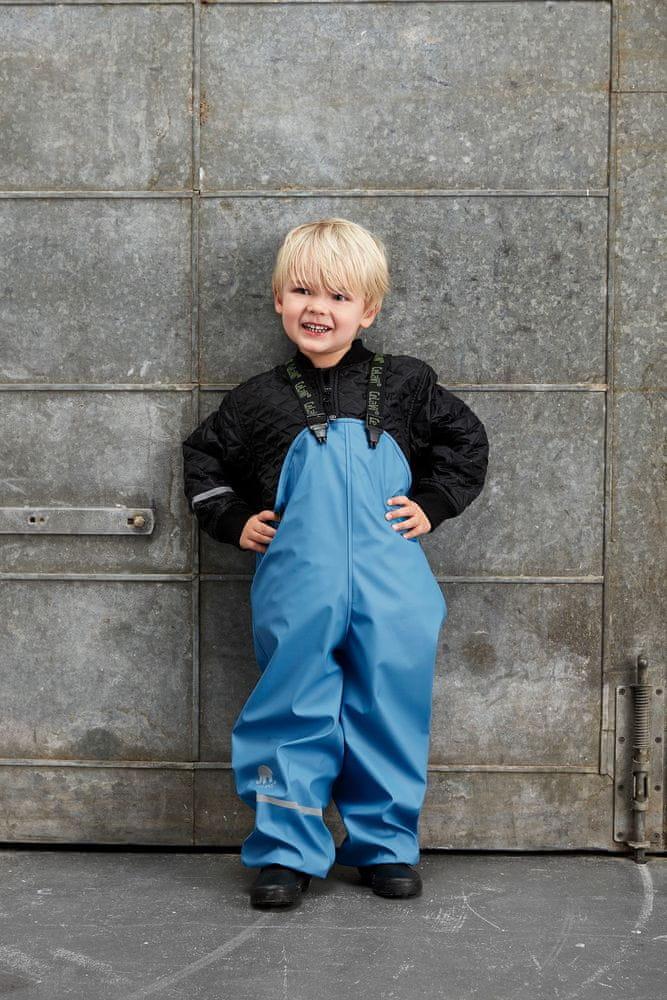 CeLaVi chlapecké zateplené kalhoty do deště 110 tmavě modrá