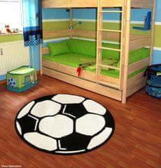 Hanse Home Detský kusový koberec Prime Pile Fussball 100015 100x100 (průměr) kruh
