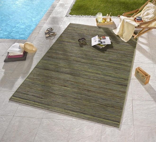 Bougari Venkovní kusový koberec Lotus Grün Meliert 80x240