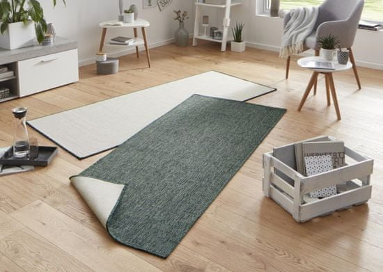 Bougari Kusový koberec Twin-Wendeteppiche 103095 grün creme