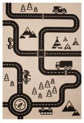 Zala Living Detský kusový koberec Vini 103024 Road Map Charly 120x170 cm 120x170