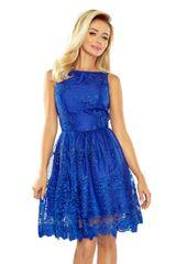 Numoco Ženska obleka 173-1, kraljevsko modra, L