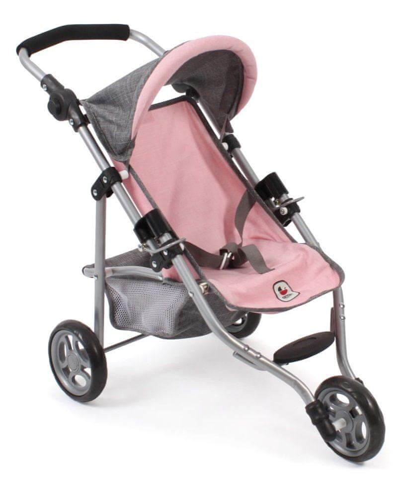 Bayer Chic Kočárek pro panenku LOLA šedivo-růžová