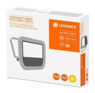 LEDVANCE reflektor LED Floodlight 50W/3000K 100DEG IP65, črn