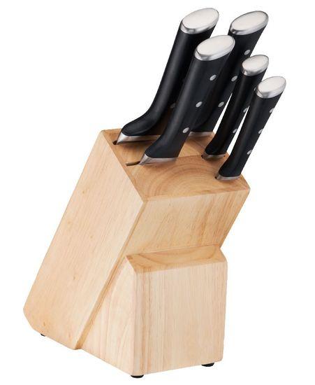 Tefal ICE FORCE drevený blok na nože + 5 nožov K232S574