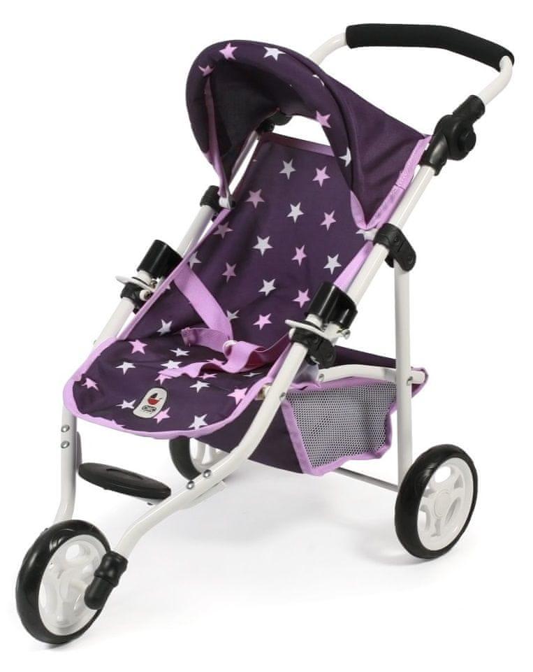 Bayer Chic Kočárek pro panenku LOLA fialová hvězdička