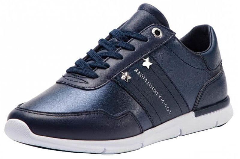 0bd24c8d1 Tommy Hilfiger Dámské tenisky Tommy Essential Leat Dark Blue FW0FW03688-406  (Velikost 38)