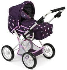 Bayer Chic otroški voziček Leni, vijoličen z zvezdami