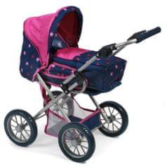 Bayer Chic otroški voziček Leni, roza z zvezdami