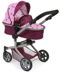 Bayer Chic kombiniran voziček MIKA, roza-vinska z zvezdicami