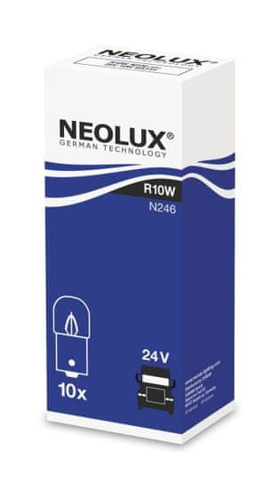 NEOLUX Žárovka typ R10W, Standard 10W, 24V, BA15s, 10 Ks