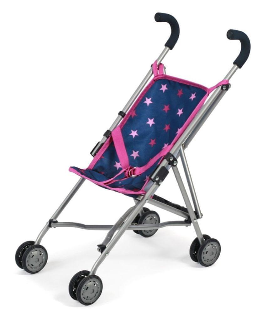 Bayer Chic Mini-Buggy ROMA modro - růžová hvězdička