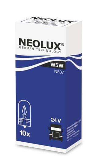 NEOLUX Žárovka typ W5W, Standard 5W, 24V, W2.1x9.5d