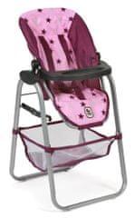 Bayer Chic Jedálenská stolička pre bábiku ružovo-vínová hviezdička