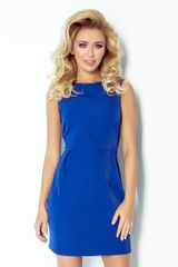 Numoco Ženska obleka 103-1, kraljevsko modra, XL