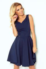 Numoco Ženska obleka 114-7, temno modra, XXL