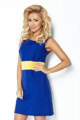 Numoco Ženska obleka 102-2, kraljevsko modra, XL