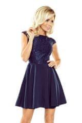 Numoco Ženska obleka 157-1, temno modra, XL