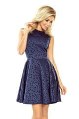 Numoco Ženska obleka 125-22, temno modra, XL