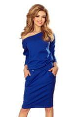 Numoco Ženska obleka 189-2, kraljevsko modra, XL