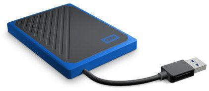 Western Digital My Passport GO - 500GB, modrá (WDBMCG5000ABT-WESN)