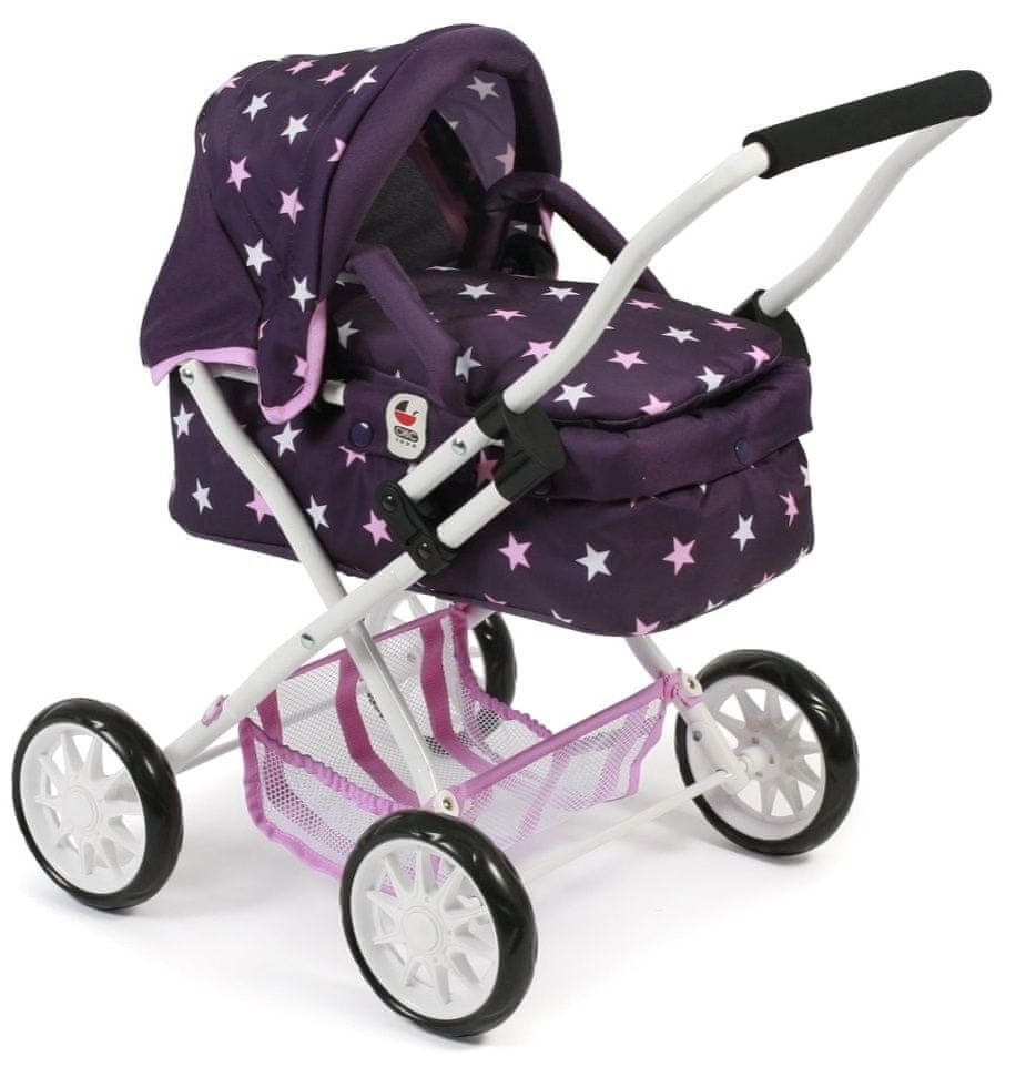 Bayer Chic Kočárek pro panenky SMARTY fialová hvězdička