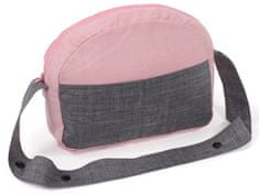 Bayer Chic Přebalovací taška šedivo-růžová