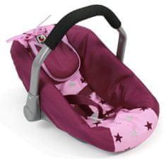 Bayer Chic avto sedež za lutko, roza - vinski z zvezdicami