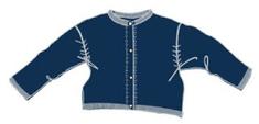 Carodel dievčenský sveter 74 modrá