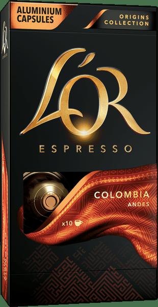 L'Or Colombia 10 Intenzita 8 - 10 ks hliníkových kapslí