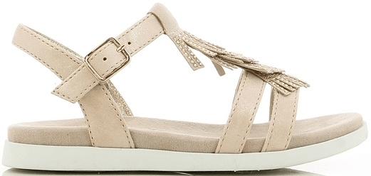 V+J dekliški sandali z obrobo