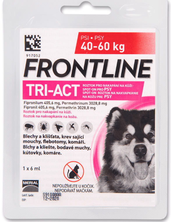 Merial Frontline TRI-ACT spot on Dog XL 6 ml