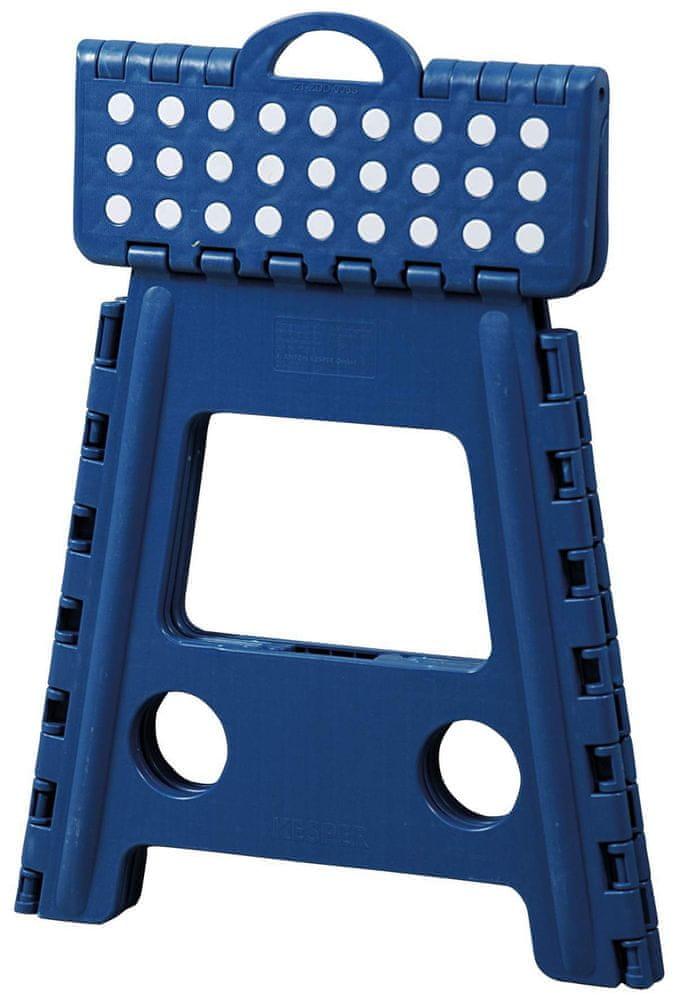 Kesper Stolička plastová vysoká modrá