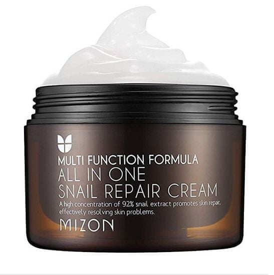 MIZON Obnavljajoča krema za obraz s polži izločanje 92% (All In One Snail Repair Cream)