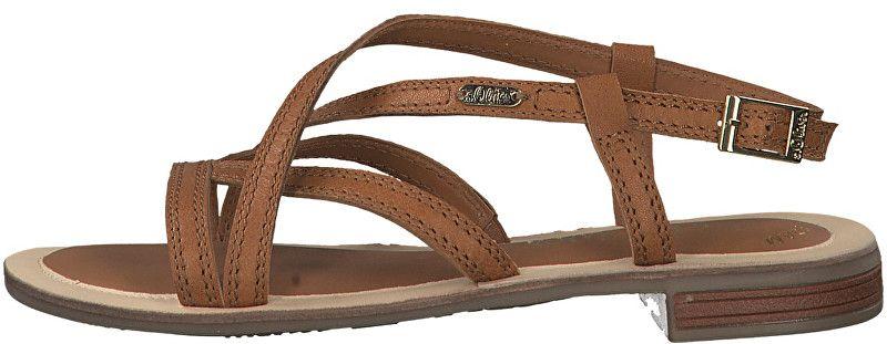 de216c27e3db Oliver Dámské kožené sandále Cognac 5-5-28120-22-305