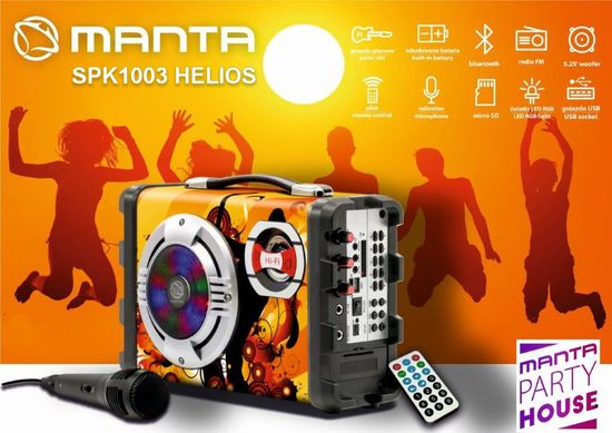 Manta Bluetooth prenosni zvočnik + woofer SPK1003