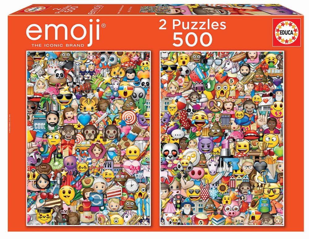 Educa Puzzle 500 dílků 2 Puzzles - Emoji