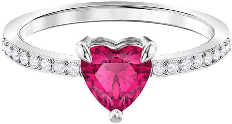 b4a0c017c Swarovski Třpytivý prsten se srdíčkem ONE 5474942 (Obvod 50 mm)