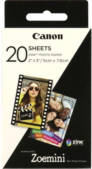 Canon foto papir ZINK za ZOEMINI, 20 kosov