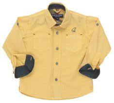 North Pole chlapecká košile 68 - 74 žlutá