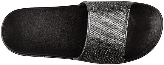 Coqui Dámské pantofle Tora Black/Silver Glitter 7082-301-2200