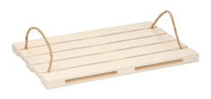 TimeLife Servírovací podnos design europaleta dřevo 36x24 cm