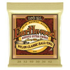 Ernie Ball 2069 Earthwood Nylon Classic Ball-End - nylonové struny na klasickou kytaru