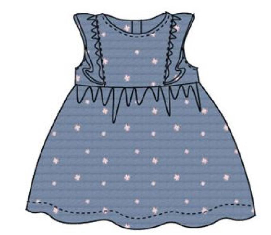 Carodel dívčí šaty 68 bílá/modrá