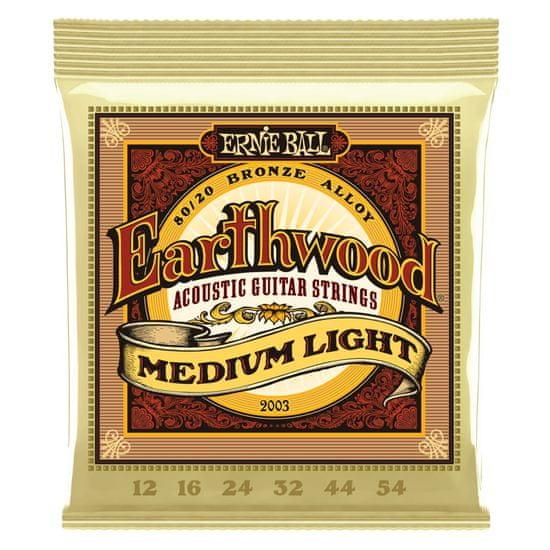 Ernie Ball 2003 Earthwood Medium Light .012 - .054 Acoustic 80/20 Bronze - struny na akustickou kytaru