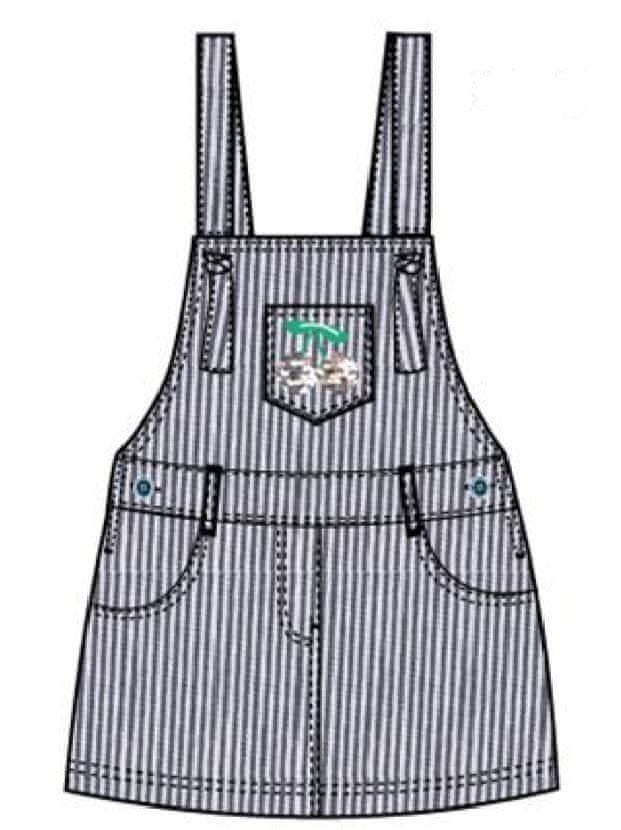Carodel dívčí šaty 116 bílá/modrá