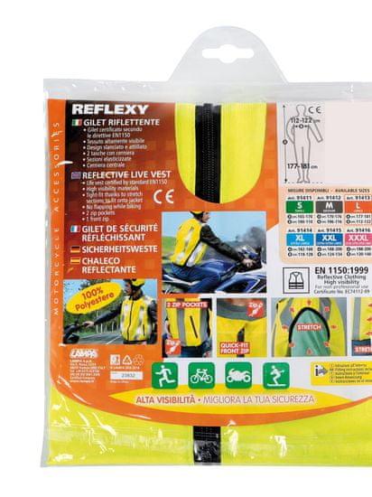 LAMPA Vesta reflexná na MOTOCYKEL XXL elastická EN1150