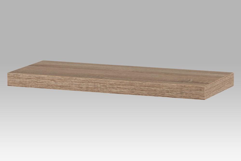 Nástěnná polička KALEB 60 cm, dub sonoma
