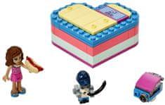 LEGO Friends 41387 Olivia in poletna škatla v obliki srca